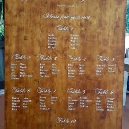'wedding table plan large 2' © Free Spirits Artworks