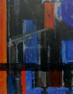 """""""abstract 1. acrylic on canvas"""" © Lesley Goldie"""