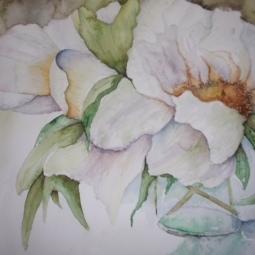 'Aquarel bloemen in vaas' © Mientje de Goeij-de Rooij