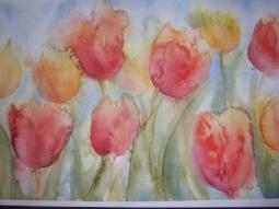 'Aquarel tulpen' © Mientje de Goeij-de Rooij