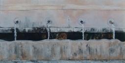 """chafariz. oil on canvas"" © Lesley Goldie"