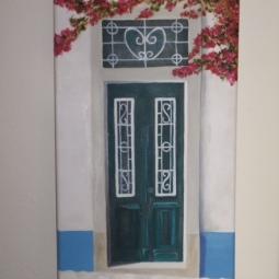 'schilderijen port. deuren 002' © Mientje de Goeij-de Rooij