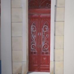 'schilderijen port. deuren 003' © Mientje de Goeij-de Rooij