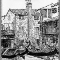 'Squero Di San Trovaso Venice' © Brian Oliver