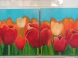 'Tulpen voor Ronny' © Mientje de Goeij-de Rooij