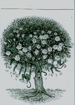 '103 Monkeys Poems for children - cover' © Alexandra Smith (Dubbo)