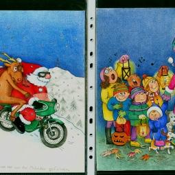 'Christmas - Asanta on motorbike and carol singers' © Alexandra Smith (Dubbo)
