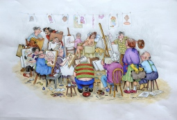 'The Life Drawing Class' © Alexandra Smith (Dubbo)