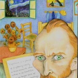 'Vincent Van Gogh' © Alexandra Smith (Dubbo)