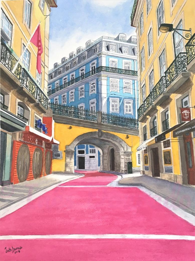 """Pink Street"", Cais do Sodré,Lisbon, Portugal, 2018 © Inés Dourado"