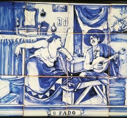 """O Fado"" Old Tile Art in Faro"