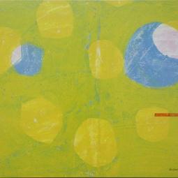 Bulles jaune 100x120