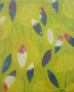 feuilles jaunes 80x100