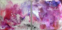 Diptych Pink Sugar, 2x 60x60cm © Lotti Klink