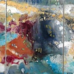 Triptych Spring feelings, 3x 60x80cm © Lotti Klink