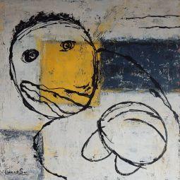 Black and Yellow 1 80x80cm © Lida van der Sar