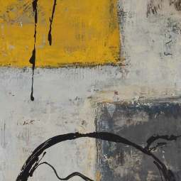 Black and Yellow 2 80x40cm © Lida van der Sar