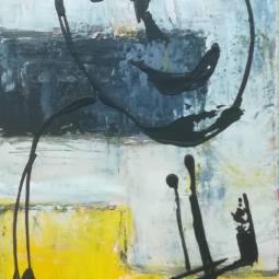 Black and Yellow (30 x 80 - 3 stuks) (3) © Lida van der Sar