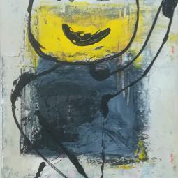 Black and Yellow (30 x 80 - 3 stuks) © Lida van der Sar
