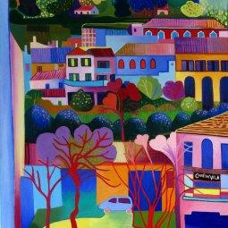 Monchique painting © Liz Allen