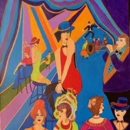 'Cabaret after Isaac Maimom' 50x40© Anneke Verschoor Kuipers