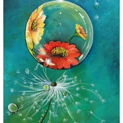 """#youvegotthis"", acrylic on canvas, 30 x 40cm © Samantha van der Westhuizen/ Tintinter"