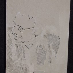 Portrait of an editor (Relief casted concrete, 50 cm high) © Adina Jabeck
