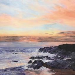 'SUNSET AT FISTRAL BAY' © Caroline Wood