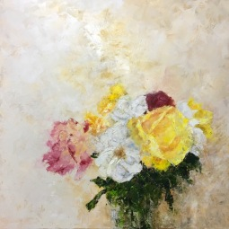 'VASE OF ROSES' © Caroline Wood