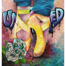 """""""#untamed"""", acrylic on canvas, 30 x 40cm © Samantha van der Westhuizen/ Tintinter"""