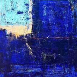 Blue IV. Oil on canvas 60x80cm © Yamuna Alfambras