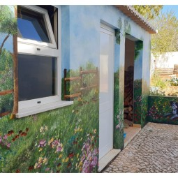 Country field with bougainvillea arch (2) 7 x 2mt, completed in 4days © Samantha van der Westhuizen