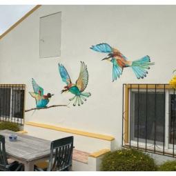 Bee-eater birds, each 1.5 x 1.5mt. 2 days to complete © Samantha van der Westhuizen