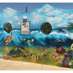 Underwater mural, 7.2 x 2.8mt, 5 days to complete © Samantha van der Westhuizen