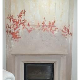 Fireplace makeover, 2.5 x 2.8mt, 5hrs © Samantha van der Westhuizen