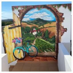 Vineyard view, 3 x 2.5mt, 2 days to complete © Samantha van der Westhuizen
