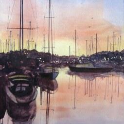 Sunset on Alvor Estuary © Malcolm Hyde
