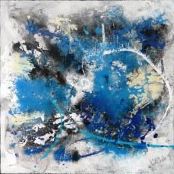 BLUE CIRCLES 80x80 © Lotti Klink