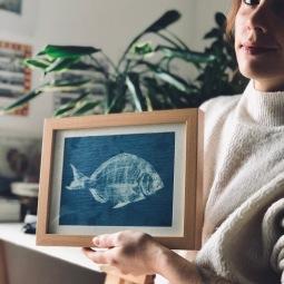 cyanotype fish II © LUZALBA