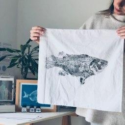 Fish print I © LUZALBA